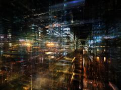 Urban Lights - stock illustration