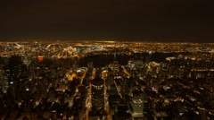 Panoramic view of cityscape at night sky. city at night background Stock Footage