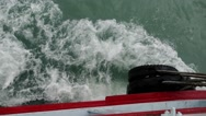 Stock Video Footage of Close-up of Fender of the Sailing Ferry in the Sea