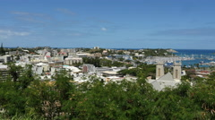 New Caledonia Noumea town view 4k Stock Footage