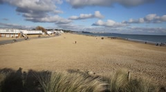 Sandbanks beach Poole Dorset England UK Stock Footage