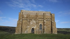 St Catherines chapel Abbotsbury Dorset religious church on hill Stock Footage