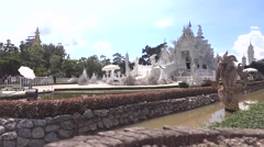 "Wat Rong Khun ""The White Temple"" of Chiang Rai Stock Footage"