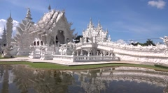 """Wat Rong Khun """"The White Temple"""" of Chiang Rai Stock Footage"""