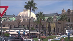Monaco Monte Carlo Skyline French Riviera Cote d'Azur, real time Stock Footage