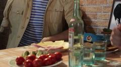 Drinking russian vodka Stock Footage