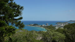 New Caledonia Noumea resorts on peninsula 4k Stock Footage