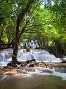 Pha Tat Waterfall - stock photo