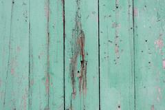Old panted wood fence texture Stock Photos
