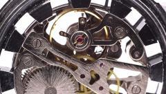 Clock mechanism back macro Stock Footage