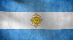 National flag Argentina grunge - stock footage