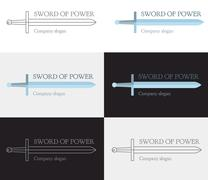 Strong and powerful logo with the Sword Piirros