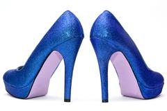 Womens sparkly high heels Stock Photos