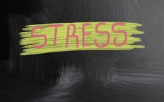 Stress handwritten with chalk on a blackboard Kuvituskuvat