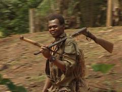 Bantu hunter Stock Footage