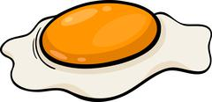 Stock Illustration of poached egg cartoon illustration