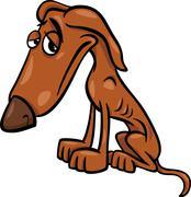 Poor hungry dog cartoon illustration Stock Illustration