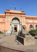 Sphinx statue near Egyptian Museum in Egypt Stock Photos