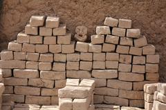 Stacked mud bricks Kuvituskuvat