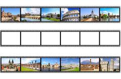 Old filmstrips Stock Photos