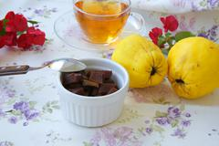 Homemade quince marmalade - stock photo