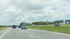 Holiday traffic TL in Queensland 4K Stock Footage