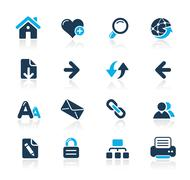 Web Navigation Icons // Azure Series Stock Illustration
