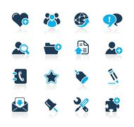 Web Blog & Internet Icons // Azure Series - stock illustration