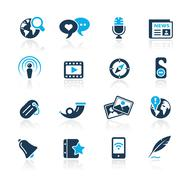 New Media Icons // Azure Series Stock Illustration