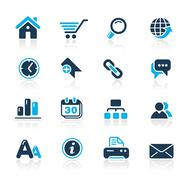 Stock Illustration of Web Site & Internet Icons // Azure Series
