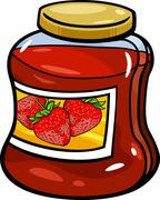 Stock Illustration of jam in jar cartoon illustration