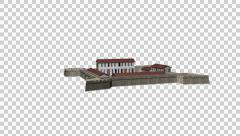 3D scale reconstruction Fort San Salvador, keelung, Taiwan Stock Footage
