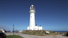 FLAMBOROUGH HEAD LIGHTHOUSE, FLAMBOROUGH, NORTH YORKSHIRE Stock Footage