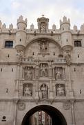 City gate of Burgos. Arco de Santa María. Stock Photos