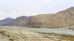 Nubra Valley panorama before snowfall Stock Footage