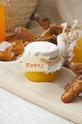 Dates honey - stock photo