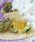 Artichoke herbal tea Stock Photos