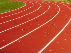Red Running Track with white lines Stock Illustration