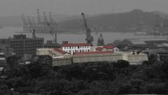 3D scale reconstruction and location of Fort San Salvador, keelung, Taiwan Stock Footage