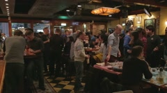 Bar scene in Taipei with international crowd Stock Footage