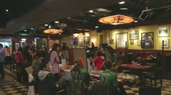 Bar even in Taipei - international crowd Stock Footage