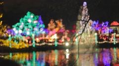 Cinematic - Christmas - Vandusen festival of lights Stock Footage