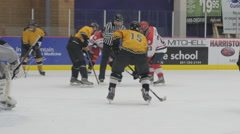 Hockey faceoff Stock Footage