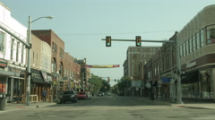 Driving plate: State St to Liberty St Ann Arbor, Michigan, front 4K Stock Footage