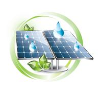 Solar panel with droplets Stock Illustration