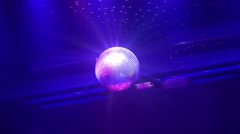 Disco Ball with Sparkles in Nightclub Stock Footage
