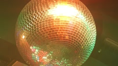 Disco Ball Light Reflection in Nightclub Stock Footage
