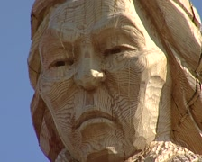 Wood sculpture Stock Footage