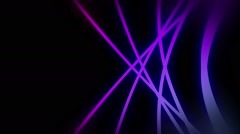 Rotating purple lines with neon glow Stock Footage