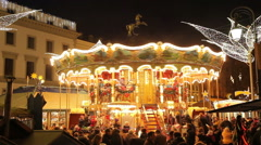 Carousel in the night city all Foto Jpeg - stock footage